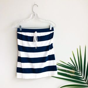Lilly Pulitzer Sherma Tube Top Striped Blue White